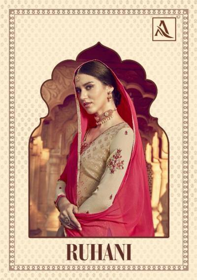 Alok-Ruhani Viscose Brasso Indian Style Suits Catalog Collection - theempirehubs