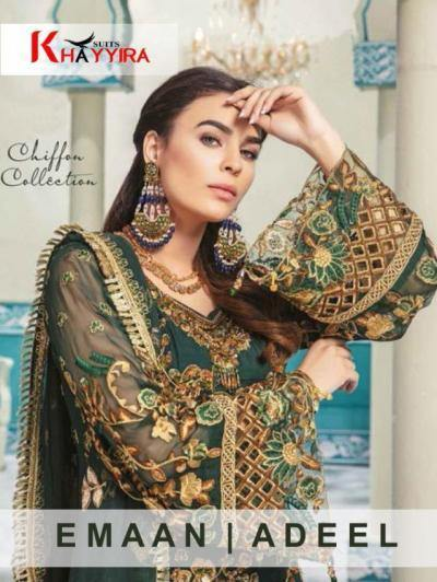 Khayyira Emaan Adeel Georgette Fabric Salwar Suits Catalog Collection - theempirehubs