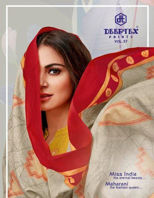 Deeptex Miss India Vol-57 Running Wear Printed Cotton Dress Catalog - theempirehubs