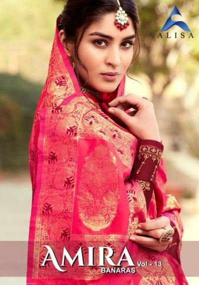 Alisa-Amira-13 Georgette Designer Banarasi Dupatta Suits Catalog Collection - theempirehubs