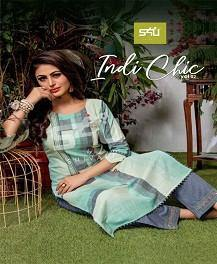 S4u Indi Chic 2 Designer Rich Look Kurti With Pant Catalog Collection - theempirehubs