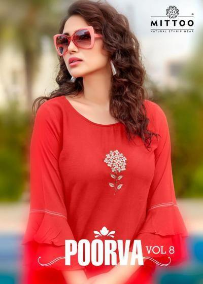 Mittoo Poorva 8 Viscose Designer Tops Catalog Collection - theempirehubs