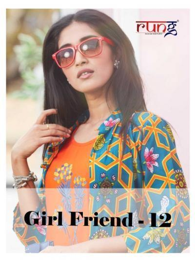Rung-Girl Friend-12 Rayon Two Piece Kurtis Concept Catalog Collection - theempirehubs