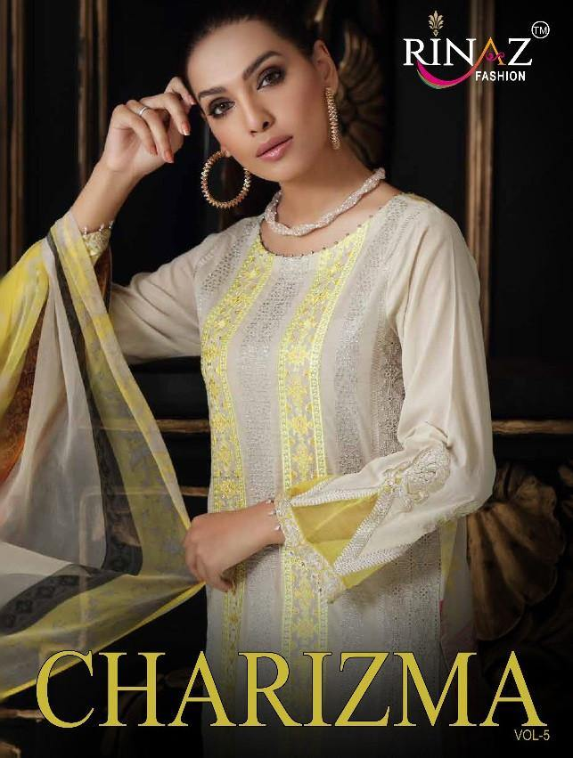 Rinaz Charizma 5 Designer Heavy Embroidered Pakistani Salwar Suits Catalog Collection - theempirehubs