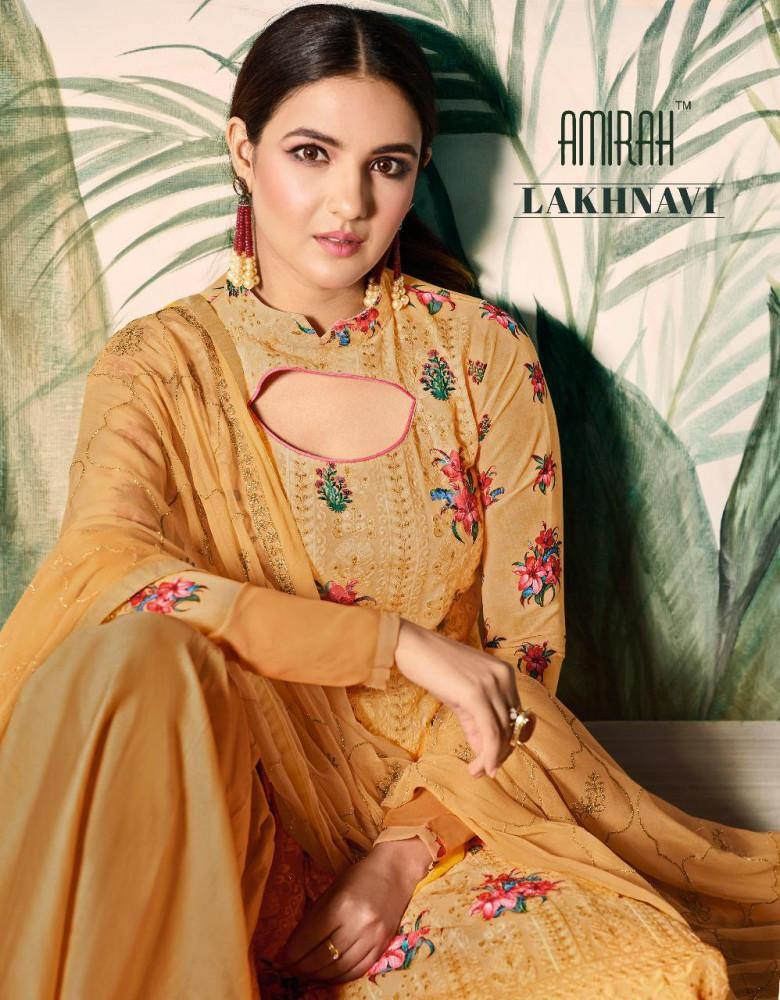 Amirah Lakhnavi Designer Georgette Salwar Suits Wholesale Catalog Collection - theempirehubs
