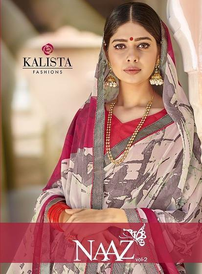 Kalista Naaz 2 Casual Wear Georgette Printed Saree Catalog Collection - theempirehubs
