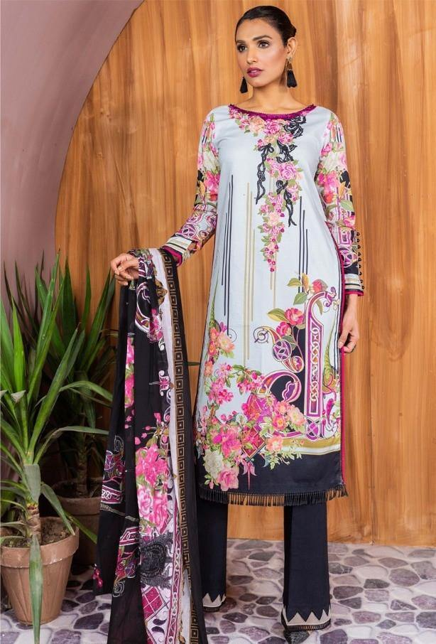 sana safinaz pure lawn printed cotton Dress Material Catalog Collection - theempirehubs
