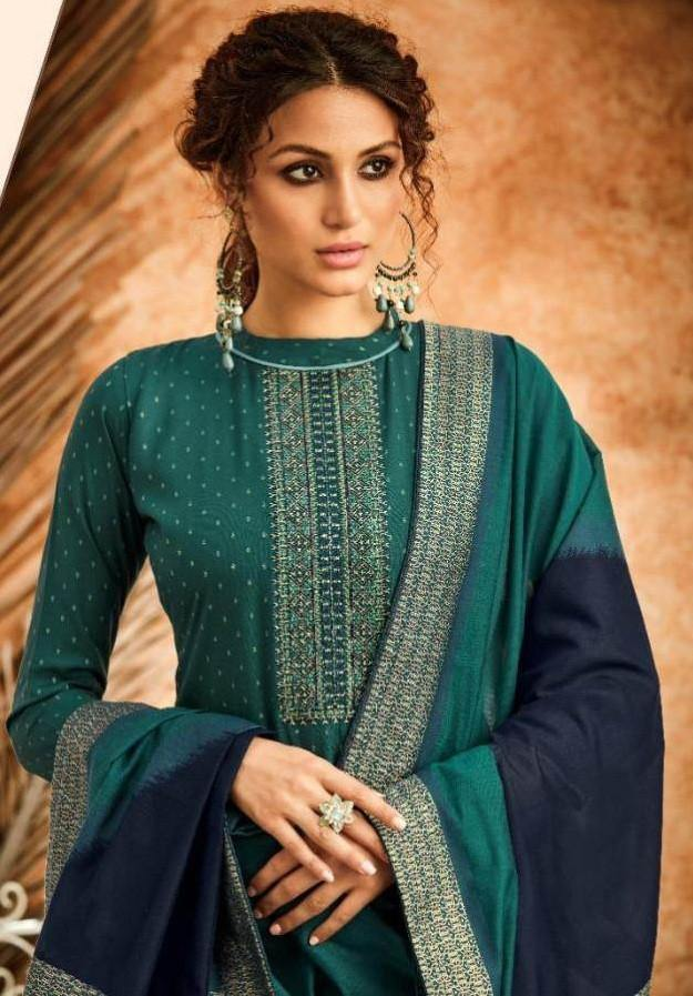 Kapil Sheen Pure Cotton Embroidered Dress Material Catalog Collection - theempirehubs