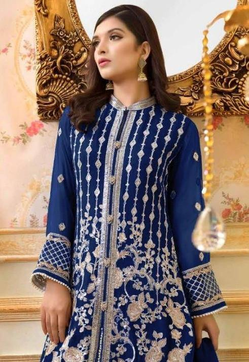 Dua 7 Georgette Embroidered Pakistani Salwar Suits Catalog Collection - theempirehubs