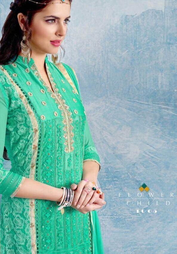 Madhav Nayra Georgette Straight Salwar Kameez Catalog Collection - theempirehubs