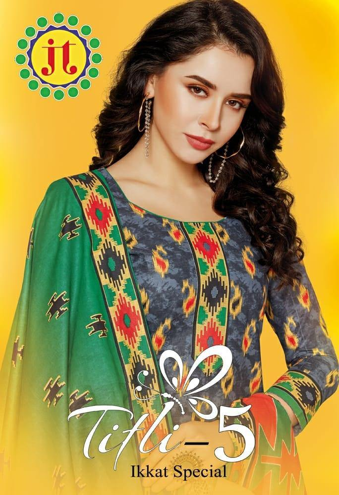 JT Titli Ikkat Special Vol-5 Printed Cotton Dress Material Catalog Collection - theempirehubs