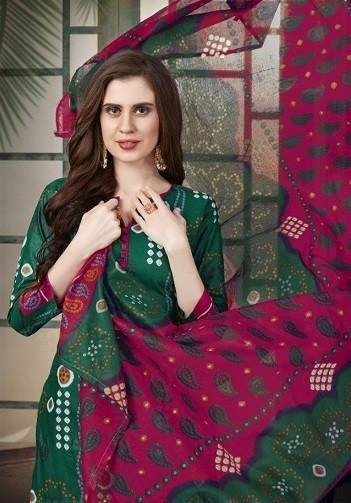 JS Priya Bandhej Printed Cotton Dress Material Catalog Collection - theempirehubs