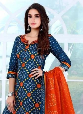 Kala Bandhani Special Printed Cotton Dress Material Catalog Collection - theempirehubs