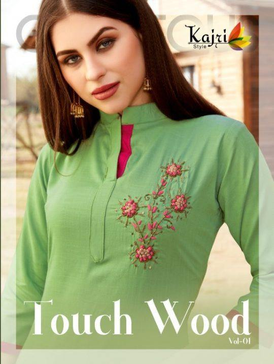 Kajri Style Touch Wood Vol-1 Rayon Kurti Catalog Collection - theempirehubs