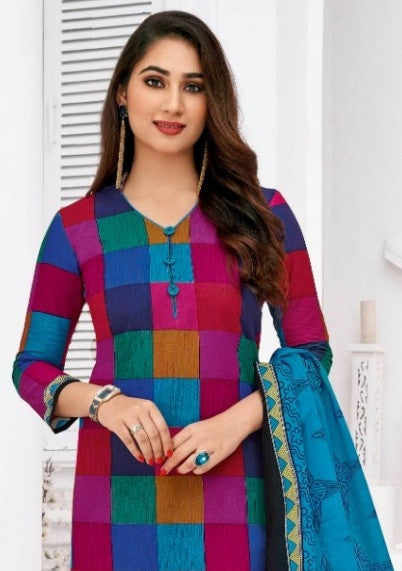 Pranjul Priyanka Vol-15 Attractive Printed Cotton Dress Material Catalog