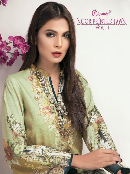 Cosmos Noor Printed Lawn Vol-1 Pakistani Style Salwar Suits Catalog