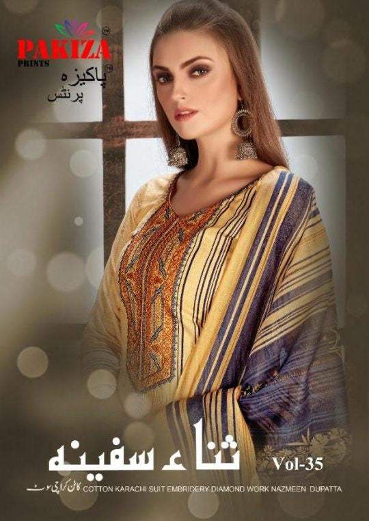 Pakiza Vol-35 Printed Lawn Cotton Suits