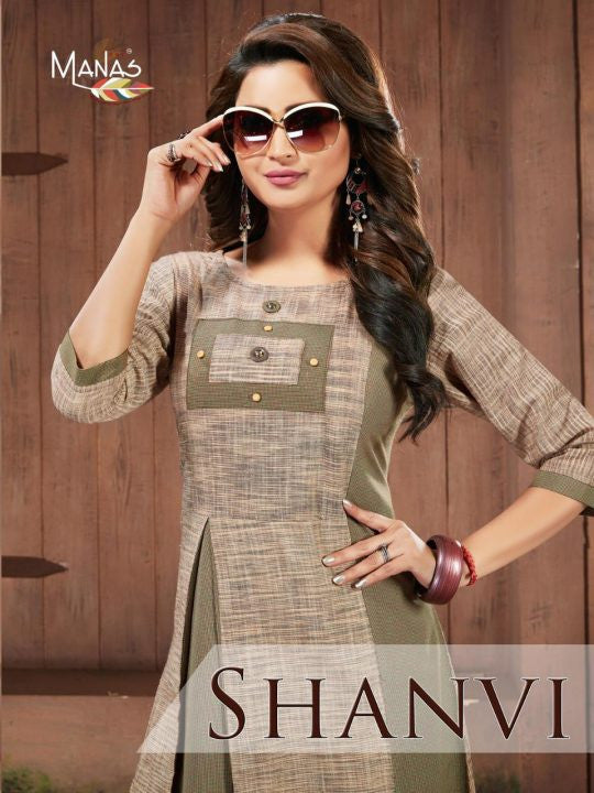 Manas Creation Shanvi Primium Cotton Kurti Catalog