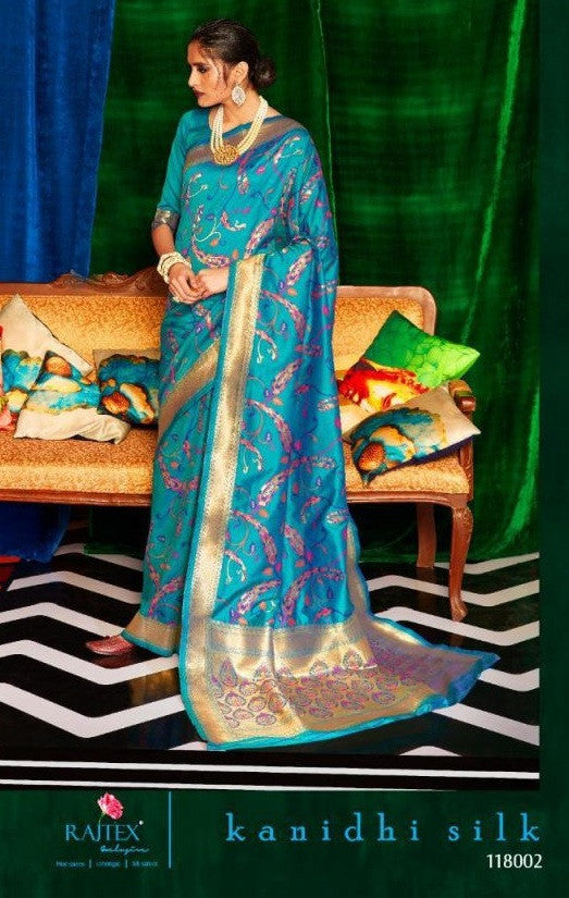 Rajtex Kanidhi Silk 118001-118006 Series Saree Catalog