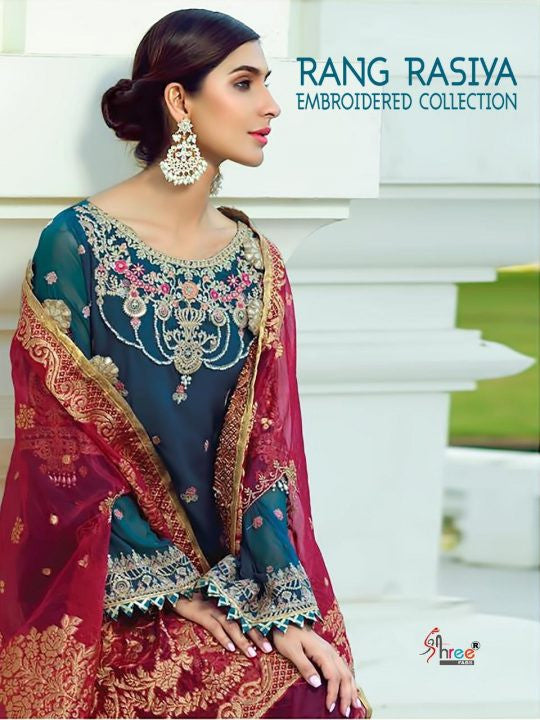Shree Fabs Rang Rasiya Embroidered Collection Pakistani Style Salwar Suits Catalog