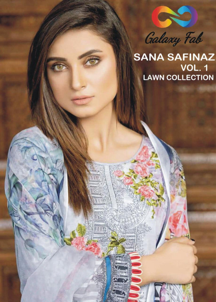 Galaxy Fab Sana Safinaz Vol-1 Lawn Collection Pakistani Style Suits Catalog