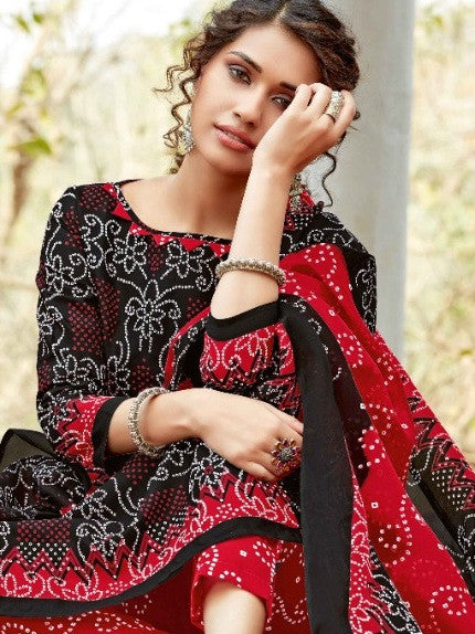 Kia Soft Cotton Bandhej Fancy Print Dress Material Catalog