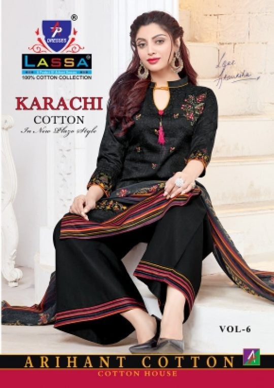 Arihant Lassa Karachi Cotton Vol-6 Dress Material Catalog