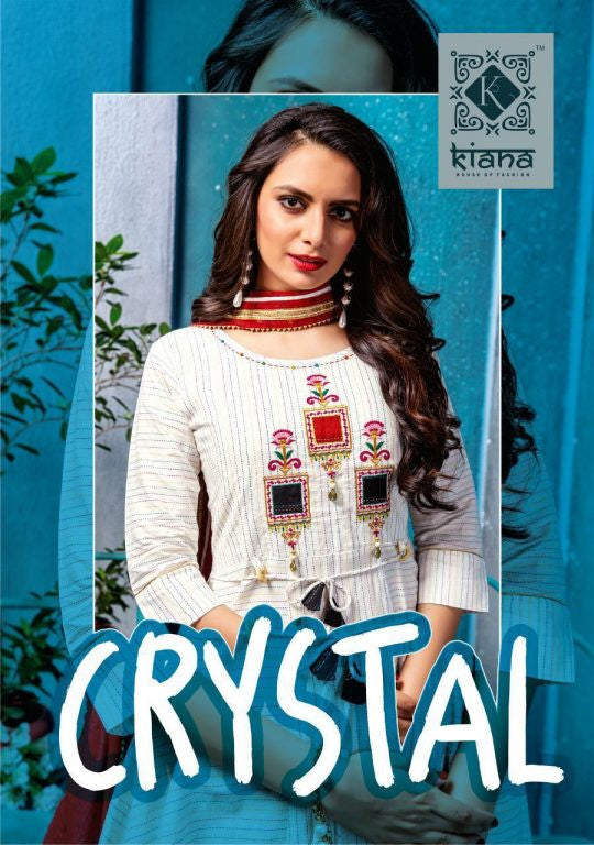 Kiana Crystal Rayon Cotton Gown Type Fancy Kurti Catalog