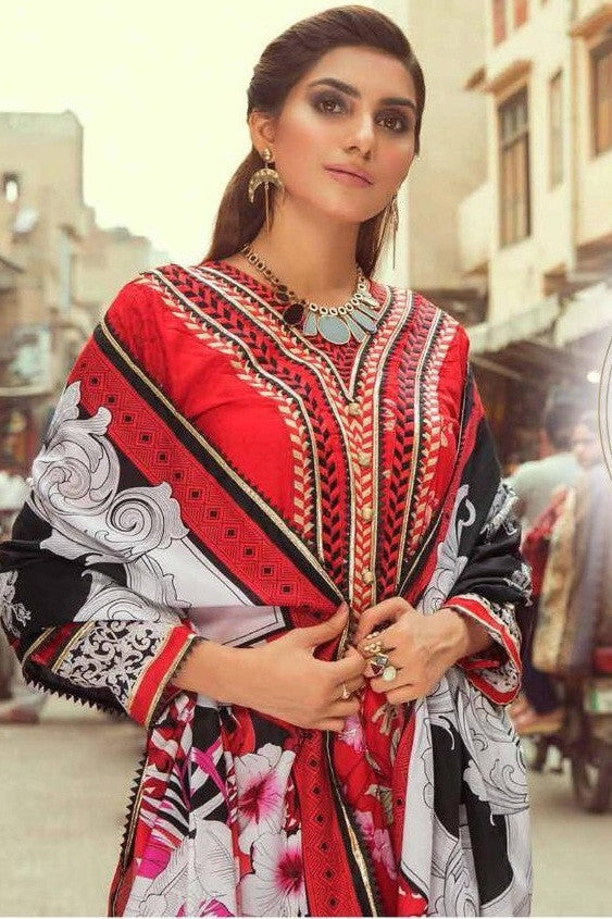Emaan Adeel Vol-1 Lawn Collection With Mal Mal Dupatta Suits Catalog