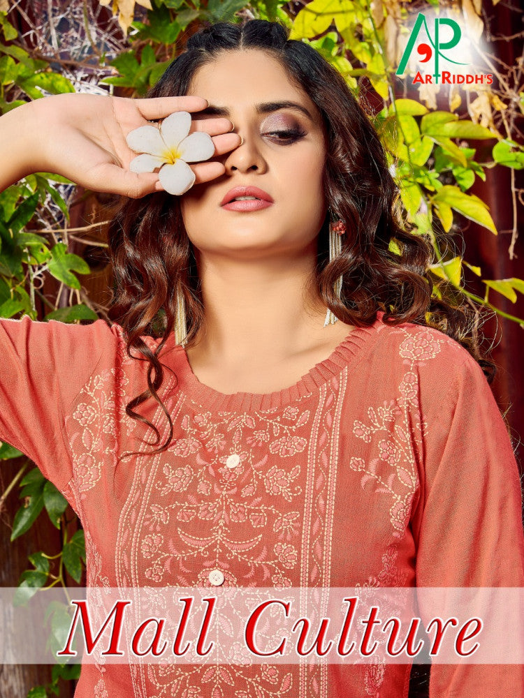 Artriddhas all Culture Rayon Kurti With Mask Catalog Collection