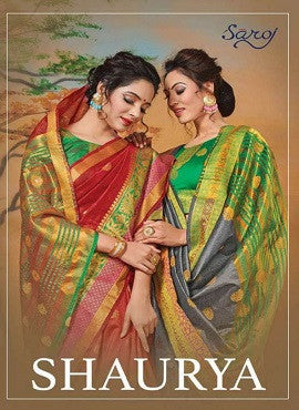 Saroj Shaurya Weaving Silk With Butta Saree Catalog