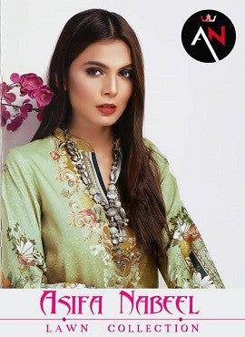 Asifa Nabeel Lawn Collection Pakistani Style Suits Catalog
