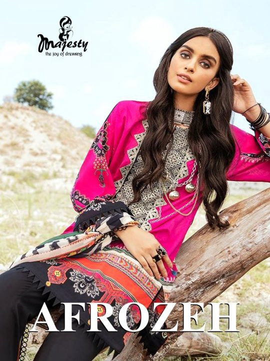 Majesty Afrozeh Pakistani Style Salwar Suits Catalog Collection