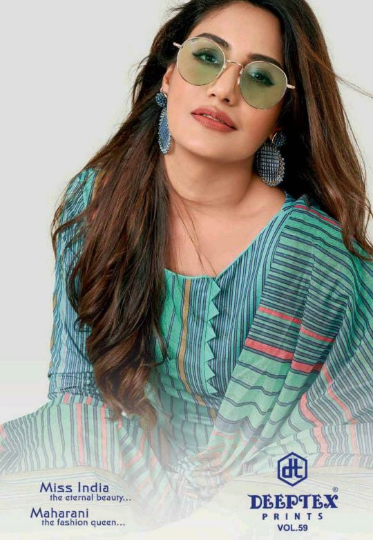 Deeptex Miss India Vol-59 Printed Cotton Daily Wear Dresses Catalog