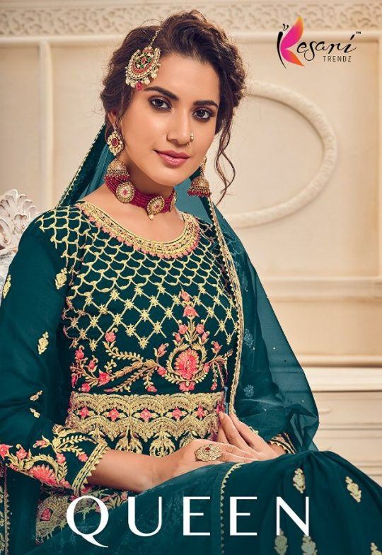 Kesari Trendz Queen Heavy Garara Style Pakistani Suits Catalog