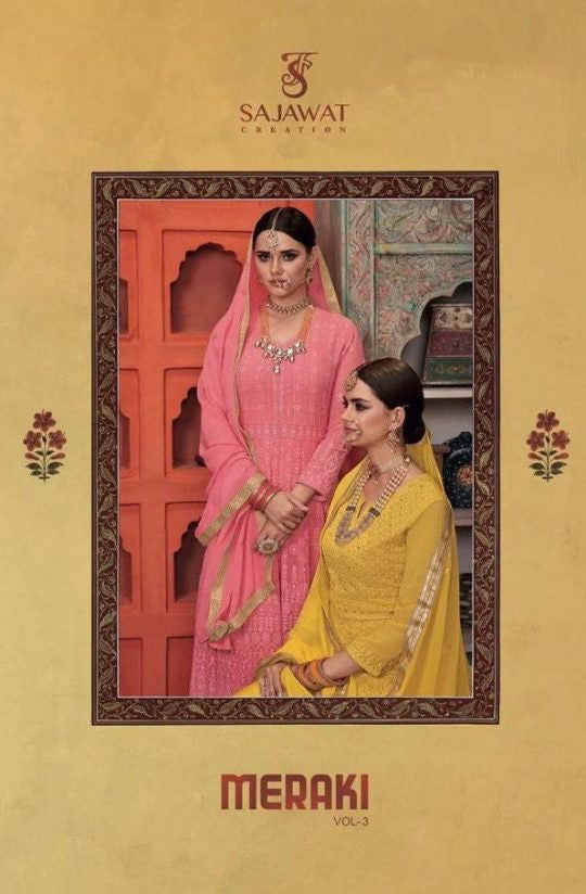 Sajawat Creation Meraki Vol-3 Readymade Salwar Suits Catalog