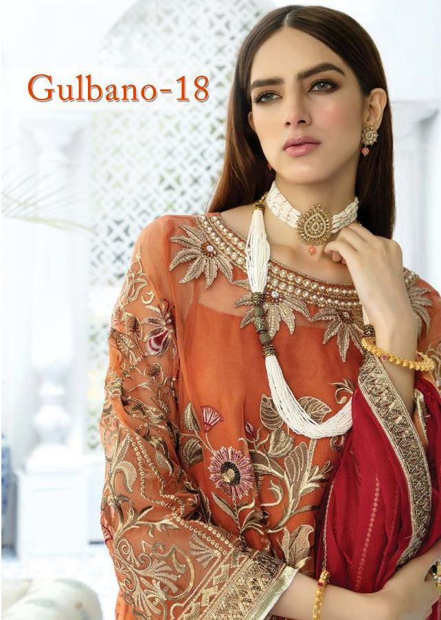 Deepsy Gulbano Vol-18 Pakistani Style Heavy Suits Catalog