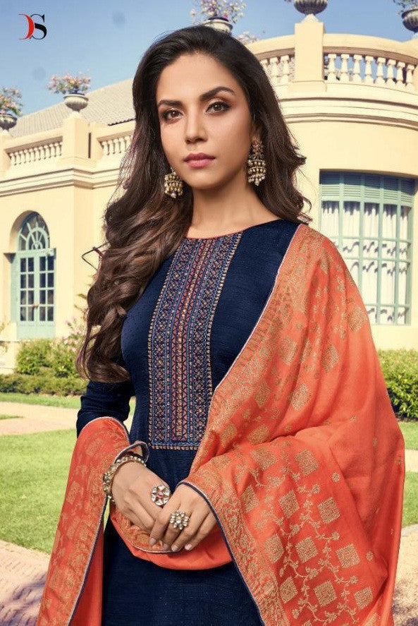 Deepsy Monalisa Silk Straight Slawar Suits Catalog Collection