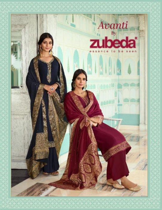 Zubeda Avanti Plazzo Style Salwar Suits Catalog Collection