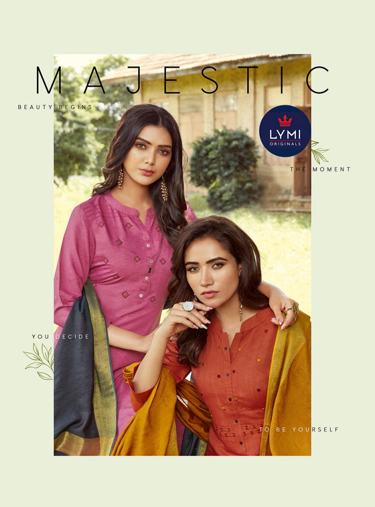 Lymi Majestic Readymade Top Bottom Dupatta Pair Catalog
