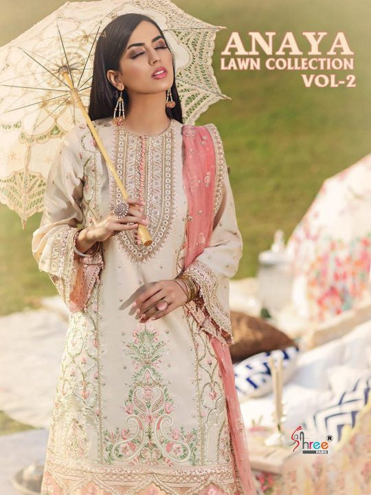 Shree Fabs Anaya Lawn Collection Vol-2 Pakistani Style Suits Catalog