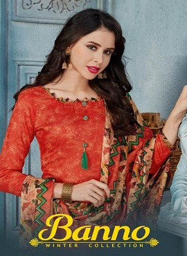 Banno Pashmina Winter Collection Dress Material Catalog