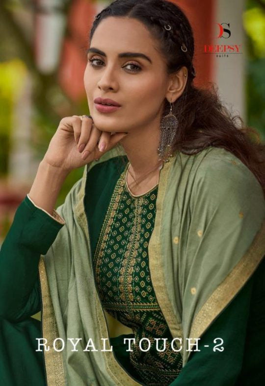 Deepsy Royal Touch Vol-2 Silk With Embroidery Work Suits Catalog