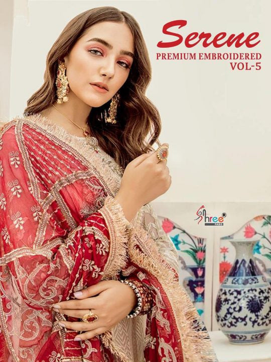 Shree Fabs Serene Premium Embroidered Vol-5 Pakistani Style Heavy Suits Catalog