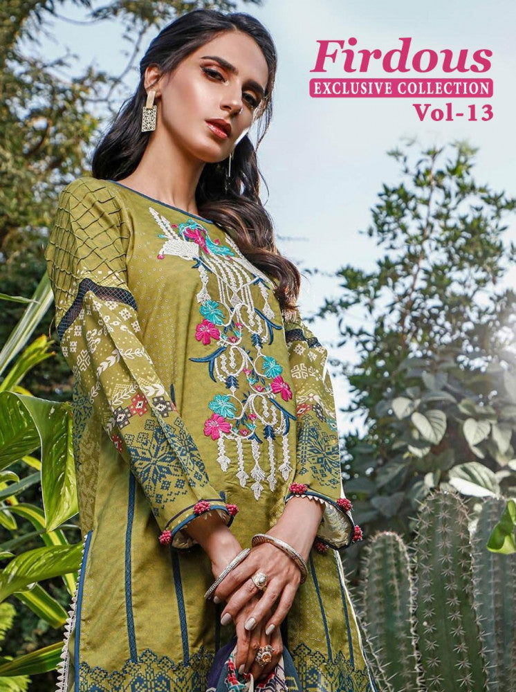 Shree Fabs Firdous Exclusive Collection Vol-13 Pakistani Style Dress Material Catalog