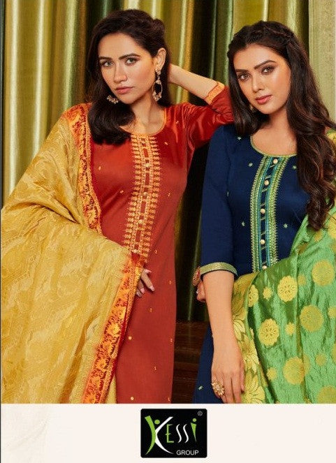 Kessi Asopalav Vol-15 Jam Silk With Embroidery Work Suits Catalog