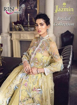 Rinaz Fashion Jazmin Vol - 12 Bridal Collection Net Fabric Pakistani Style Suits Catalog