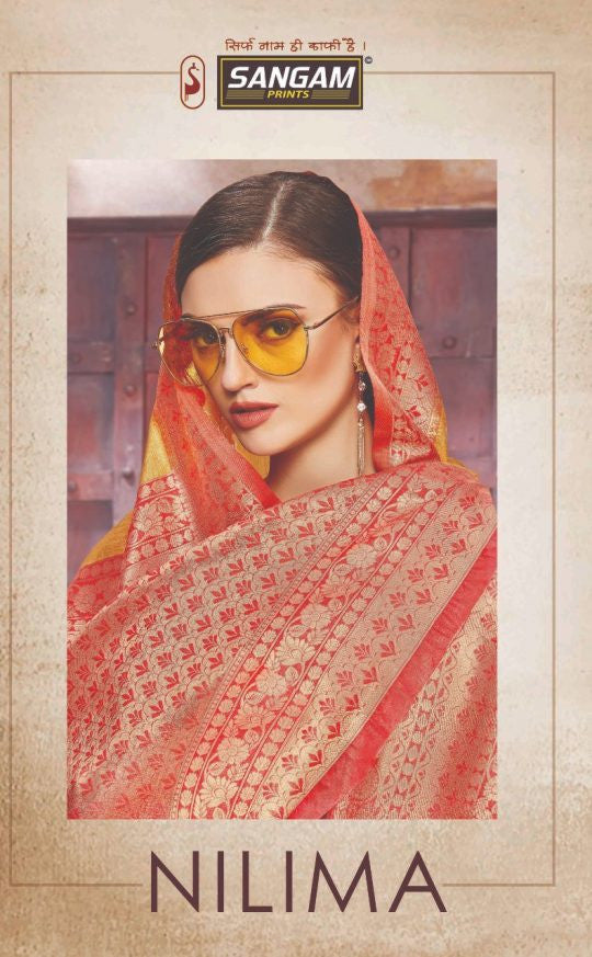 Sangam Prints Nilima Banrasi Crystal Silk Traditional Saree Catalog