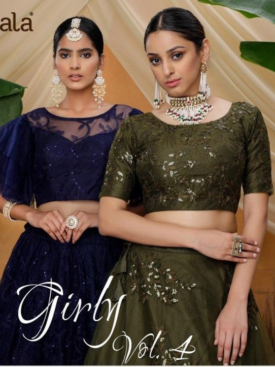 Girly Vol-5 Net Fabric Party Wear Lehenga Choli Catalog Collection