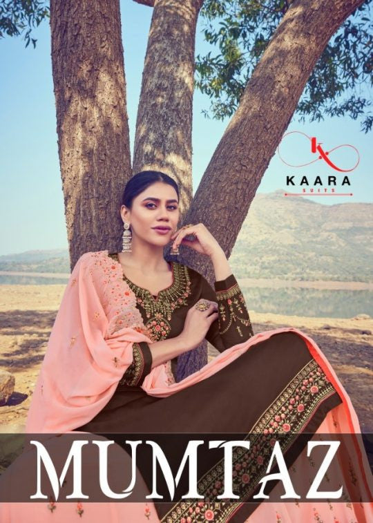 Kaara Suits Mumtaz Satin Georgette With Ghaghra Style Salwar Kameez Catalog